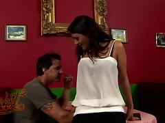 Anal sex video with naturally busty tanned brunette Charley Chase