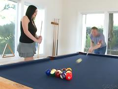 Lexy Mae nailed Shane Reno in a billiard table after a game