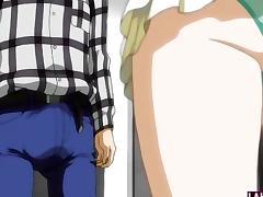 Hentai girl sucks and tittyfucks