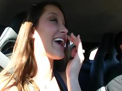 Backstage reality footage of a pornstar on her way to a shoot