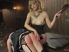 pansy maid gets the paddle