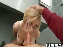 Blonde schoolgirl hither glasses gets fucked everlasting