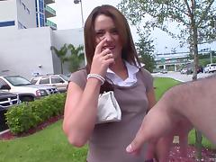 Attractive pornstar with nice ass getting smashed hardcore missionary in reality shoot
