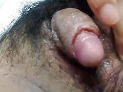 Big, hard and cheesy clit