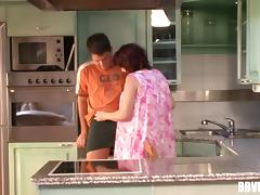Old housewife gets some action from her much younger lover