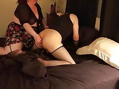 Kinky large glamorous mother and Crossdresser Couple Getting It On