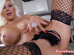 Euro Blonde Stunner Puma Swede Cums Hard From Solo!