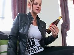 Amazing looking white bitch has her asshole stuffed by a BBC