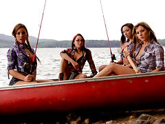 Shana Lane & Sunny Spark & Kendra Jane & Roxy Lane & Jack in Camping Xtreme Video