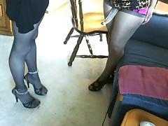 Horny girl fucks crossdresser with strap-on