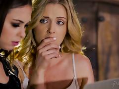 Riley Reid goes lesbian with Reena Sky so they can both cum