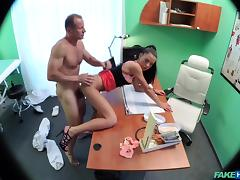 Inga in No health insurance causes shy patient to pay for treatment with wanking blowjobs and fucking - FakeHospital