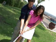 MILF wants her golf instructor's cock inside her aching cunt