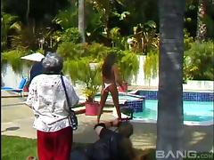Vintage pornstar behind the scenes action with busty babes