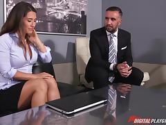 Passionate slut Eva Lovia tied up for hot bondage sex