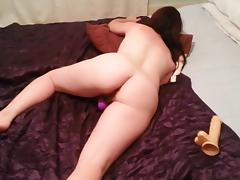 Wife caught playing with her pussy