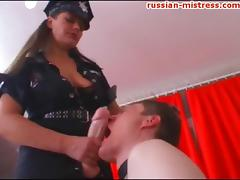 Stunning Russian bombshell bangs her boyfriend with a big strap-on