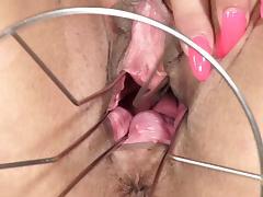PJGirls Klarisa Leone gaping pussy, self-fisting & gyno toy