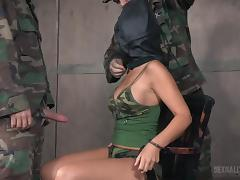 female spy was captured by military