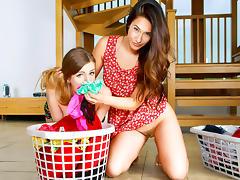 Eva Lovia & Stella Cox in Eva's Dirty Laundry - DigitalPlayground