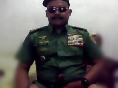 Hot moustache army officer daddy in uniform part 5