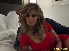 Busty Chloe Chaos gets pounded in front of a cuckold