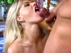 Fabulous pornstars Angela Stone, Vicky Vette and Leah Luv in incredible blonde, big dick sex clip