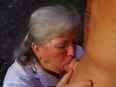 Young beefcake for noisy granny - vintage