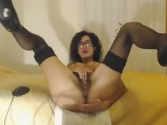 Hairy and squirty milf