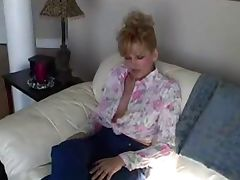 Raquel masturbates with a dildo