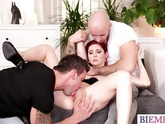 Hotwife demands from her hubby to tase a cock