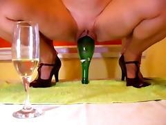 Bottle inside pussy