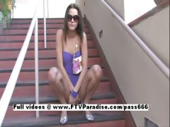 Meggan tender lusty woman flashing