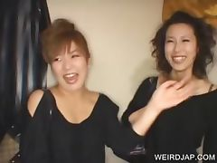 Asian sweeties talked into sex