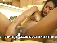 Ingenious Tanaia Ingenious black teenage babe toying pussy