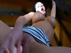 Restless busty glamour Adria dildoing