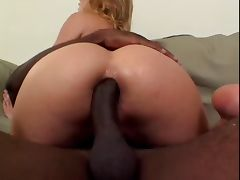 Blond With Big Boobs Sucks And Fucks Big Black Dick