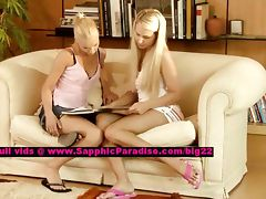 Celine and Alison lesbo chicks teasing