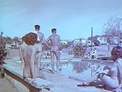 Outdoor Nudists Enjoying Naked Lifestyle 1950