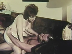 Old Man Fucking Mature Lady on the Couch 1960
