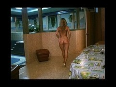 Gorgeous goldilocks watched Gorgeous goldilocks watched when relaxing in the sauna She's walking nak