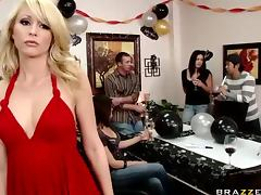 Birthday Babe Gets Fucked Over The Dining Table