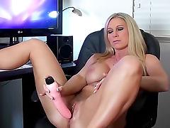 Devon Lee watches porn and masturbates