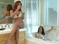 Busty Beauties Alektra Blue and Kirsten Price Going Lesbian