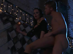 Alektra Blue night time hardcore sex outdoors