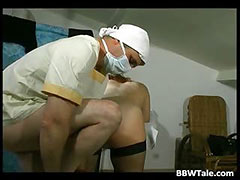 Crazy doctor loves to feel pussy and ass