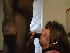 Amateur CD Crossdresser Riding Monster Black Cock