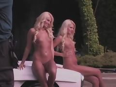 Gorgeous blond twins Kristina and Karissa Shannon get naked