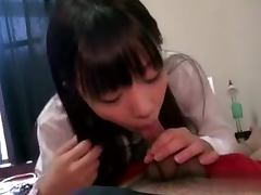 Japanese student gets her smooth pussy licked and pounded hard
