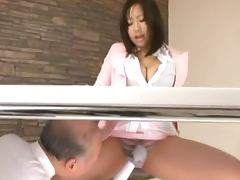 Office babe gets fucked by her mature boss